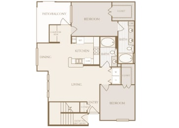 Lodge at Cypresswood - B3 - 2 bedrooms - 2 bath