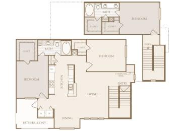 Lodge at Cypresswood - C1 - 3 bedrooms - 2 bath