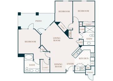 Delayne 2D floor plan C1
