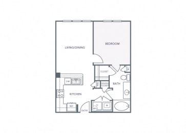 AVANT on Market Center - A1a - 1 bedroom and 1 bath