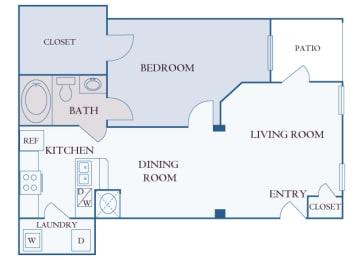 Carrington Place at Shoal Creek - A3 - 1 bedroom 1 bathroom - 2D