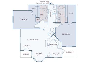 Carrington Place at Shoal Creek - B5 - 2 bedrooms 2 bathrooms - 2D