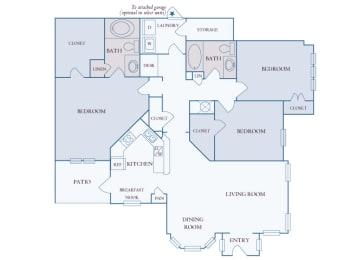 Carrington Place at Shoal Creek - C1 - 3 bedrooms 2 bathrooms - 2D