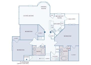 Carrington Place at Shoal Creek - C2 - 3 bedrooms 2 bathrooms - 2D