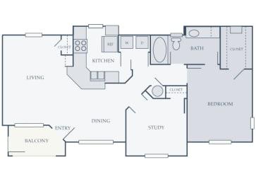 Courtney Station 2D floor plans A2 1 bedroom