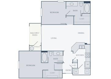 Courtney Station 2D floor plans B2 2 bedroom