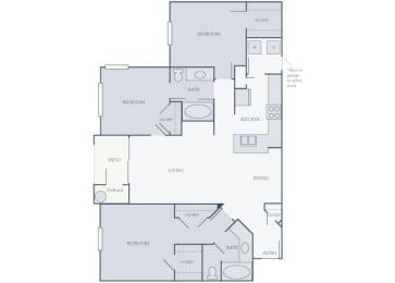 Courtney Station 2D floor plans C2 3 bedroom