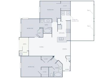 Courtney Station Apartments 2D C1 Floor plan