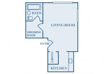 Quality Hill Towers - A1 - Studio - 1 bath