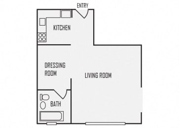 A3 floor plan for The KC High Line Apartments in Kansas City, MO