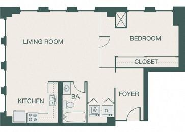 The Kirby - A10 - Penthouse 1 - 1 bedroom - 1 bath