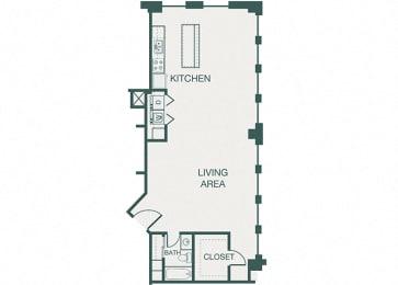 The Kirby - A15 - Fitzhugh - 1 bedroom - 1 bath