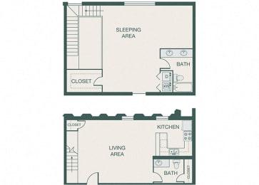 The Kirby - A16 - Penthouse 10 - 1 bedroom - 2 bath
