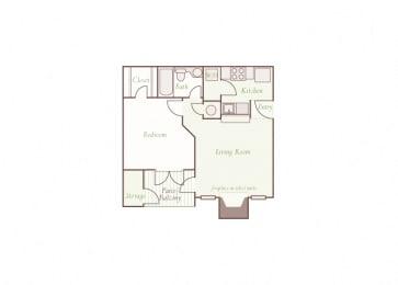 Arbor Hills Apartments - A1 - 1 bedroom and 1 bath