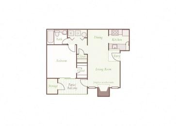 Arbor Hills Apartments - A2 - 1 bedroom and 1 bath