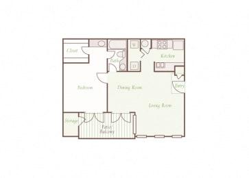 Arbor Hills Apartments - A3 - 1 bedroom and 1 bath