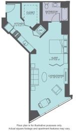 Floor Plan  Floor Plan at Moment, Chicago,Illinois