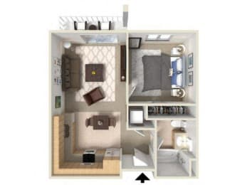 1x1 floor plans available at Vintage at Bellingham | Bellingham, WA 98226