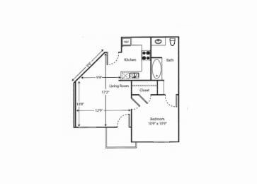2 bed Floor Plan  Vintage at Bouquet Canyon Senior Apartments l 2 Bedroom Santa Clarita Ca