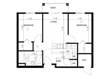 2x1 A floor plan Silverdale, WA 98383 l Vintage at Silverdale