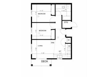 2x1 B floor plan Silverdale, WA 98383 l Vintage at Silverdale
