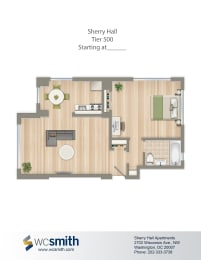 524-Square-Foot-One-Bedroom-Floorplan-Available-For-Rent-Sherry-Hall-Apartments