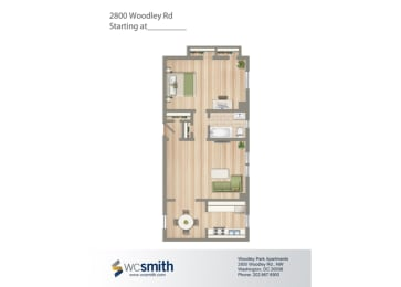 667-Square-Foot-One-Bedroom-Apartment-Floorplan-Available-For-Rent-2800-Woodley-Road