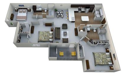 C1  3D Floor Plan