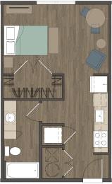Carter Crossing Apartments   Studio