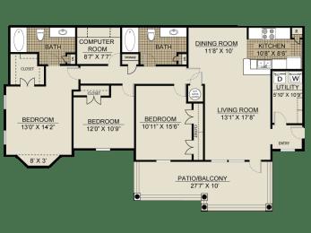 Floor plan at Veranda property LLC, Lawrenceville, 30044