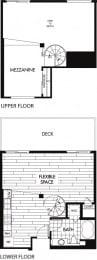 Floor plan at Trio Apartments, Pasadena, CA 91101