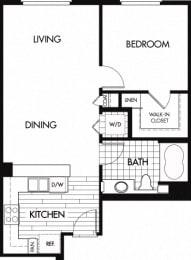 Floor plan at Trio Apartments, Pasadena, CA