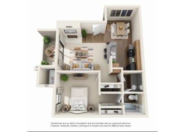 1 bedroom Casita Classic | One bedroom One bathroom