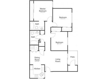 Floor Plan at Allure at Tempe, Tempe,Arizona