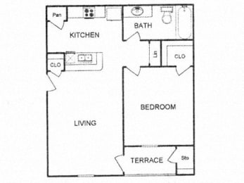 Floor plan at Clear Creek Meadows, Copperas Cove ,Texas