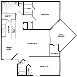 B1 Floor Plan at Palmetto Grove, Charleston, South Carolina