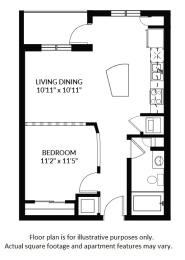 Floor Plan  A1 - BW Floor Plan at Windsor at Delray Beach, Delray Beach, 33483