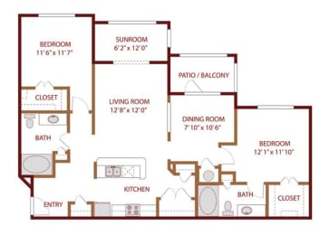 Floor plan at The Greens of Fossil Lake, Texas