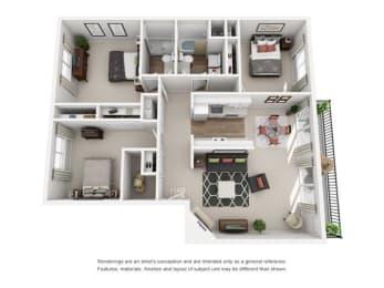 Floor plan at Canyon Park, Beaverton