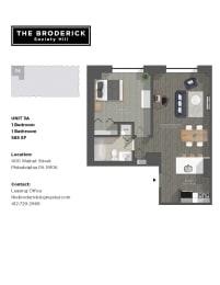 floorplan rendering for modern apartment building complex
