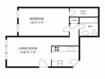 one-bedroom-junior-size-stoughton-apartments