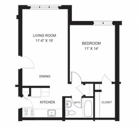 oxford one bedroom apartment