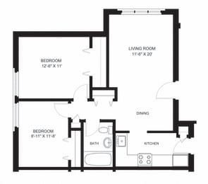 oxford two bedroom apartment rental