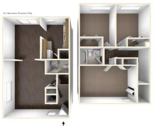 Three Bedroom Apartment Floor Plan Chatham West Apartments