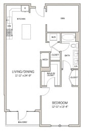1 Bed 1 Bath Den A20D at AVE King of Prussia, King of Prussia, PA, 19406