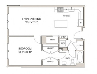 1 Bed 1 Bath A7 at AVE King of Prussia, King of Prussia, Pennsylvania