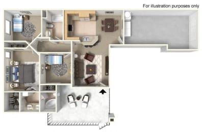 Plan 3A FloorPlan 3D at TERRAZA DEL SOL, California, 91730
