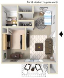 Plan E Floor Plan at WOODSIDE VILLAGE, West Covina