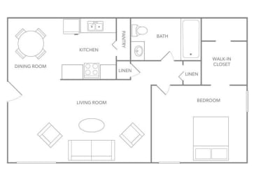 Barbados 750B Floor plan at Paradise Palms, Arizona, 85014