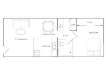 Fiji 550B Floor plan at Paradise Palms, Phoenix,Arizona